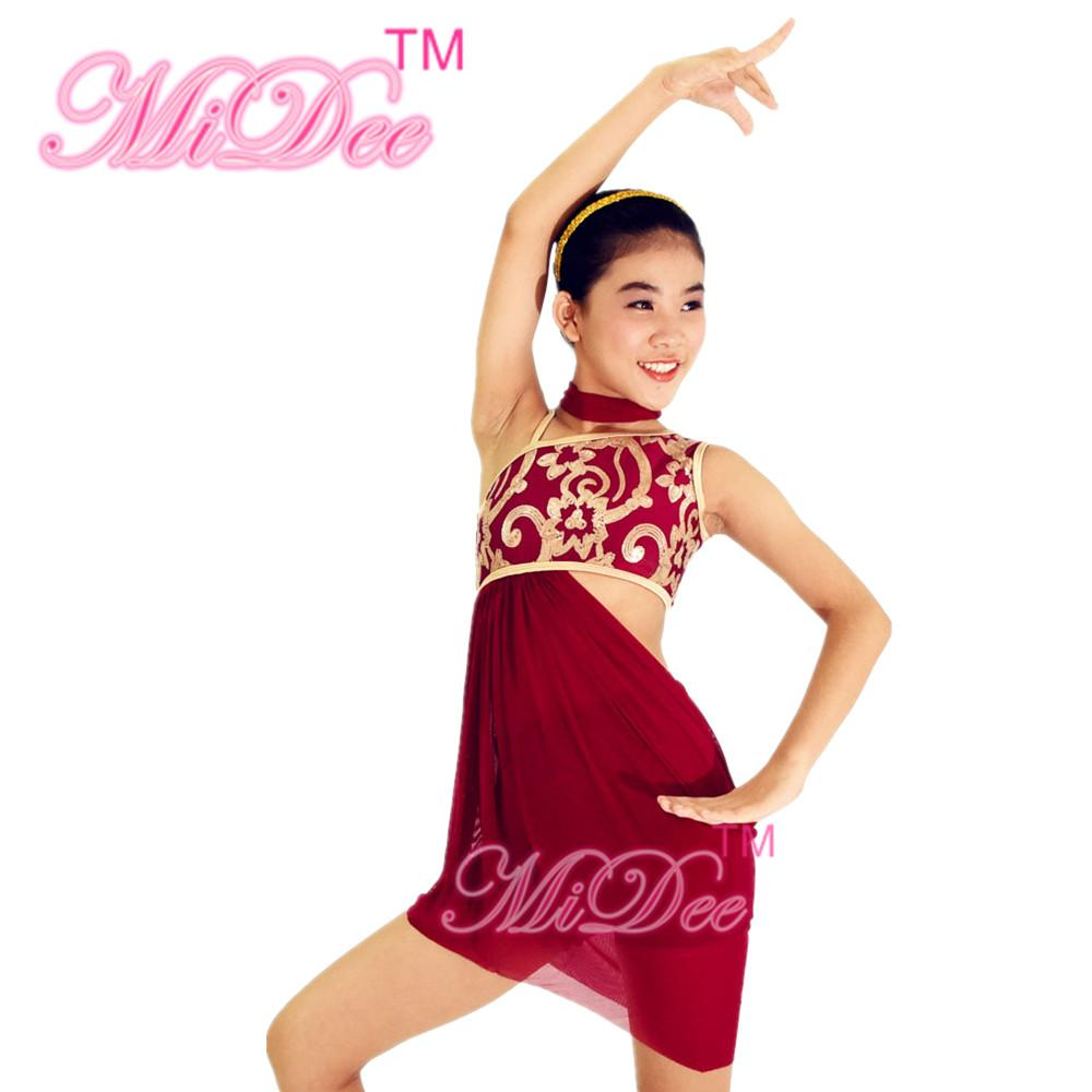 9fe0681d5552 MiDee Dancing Costumes Gymnastics Dance Wear Ballerina Dress Stage  Competition Sexy Ballet Dancing Lyrical Dress Ballet Dance