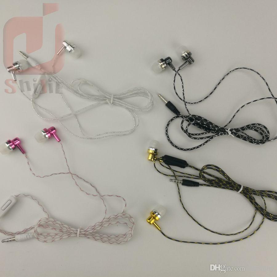 Günstige Kopfhörer Headset Stereo Musik Kopfhörer Headsets mit Mikrofon für iPhone Artikel auf dem Bürgersteig 500ps / angezeigt