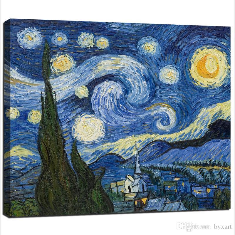 2018 Van Gogh Canvas Wall Art, Single Panel Reproduction Van Gogh ...