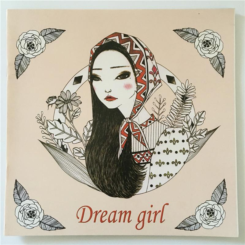 English Edition Dream Girl Coloring Book 24 Pages Secret Garden