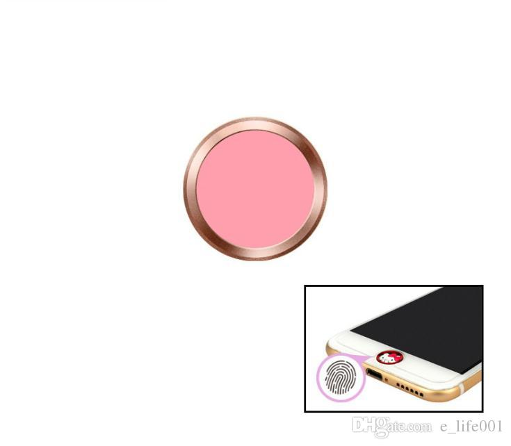 New Rose Gold Aluminum Metal Ring Touch ID Home Key Button Sticker for iPhone 7/6S/6, 7/6S/6 Plus with Fingerprint Identification Function