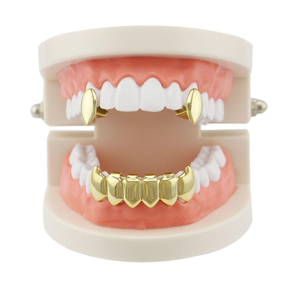 Men Women Vampire Fangs Teeth Hip Hop Grillz Top Bottom Dental Grills Set  Copper Body Jewelry Party Gifts Rapper Hiphopman Favorite UK 2019 From  Bella666 7e21ab9cc3
