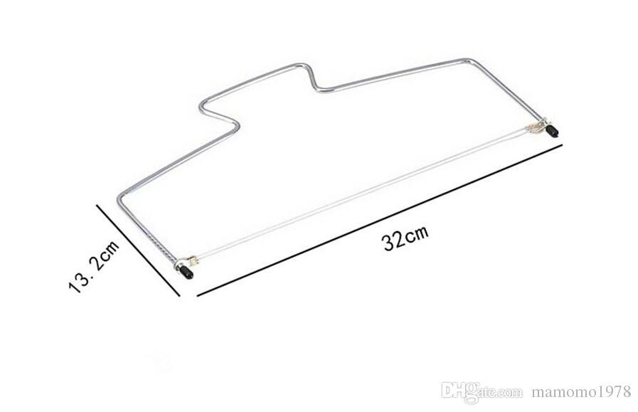 새로운 더블 라인 조정 가능한 베이킹 도구 DIY 금형 스테인레스 스틸 케이크 도구 케이크 빵 슬라이서 커터 문자열 나이프 LB 123