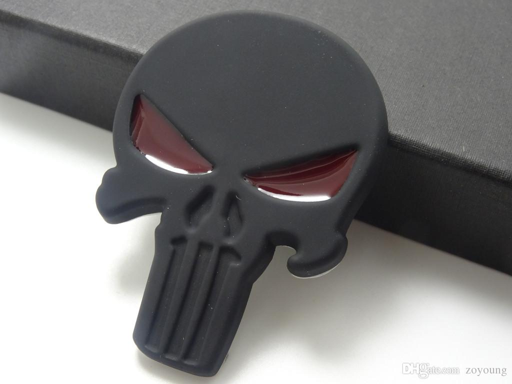 2019 3d punisher decal chrome car metal skull sticker car decals stickers black from zoyoung 9 55 dhgate com