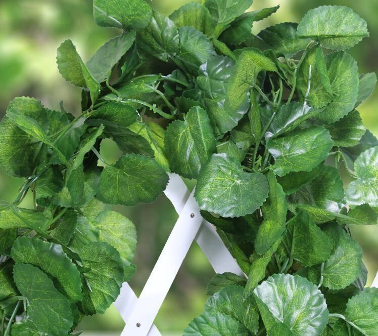 2.4 m folhas de uvas verdes artificiais outras folhas de flores falsas decoradas com erva de hera de Boston 90 folhas de comércio livre HH08