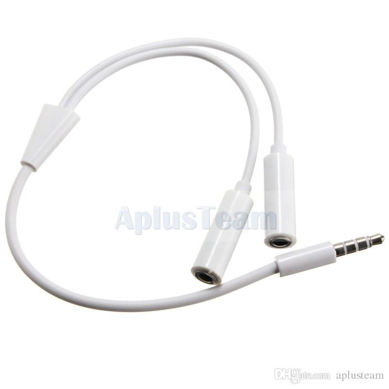 3.5mm Audio Mic Y Splitter Cable Headphone Jack Male to 2 Dual Female Earphone Adapter Stereo Headset Cable For iPhone PC Laptop