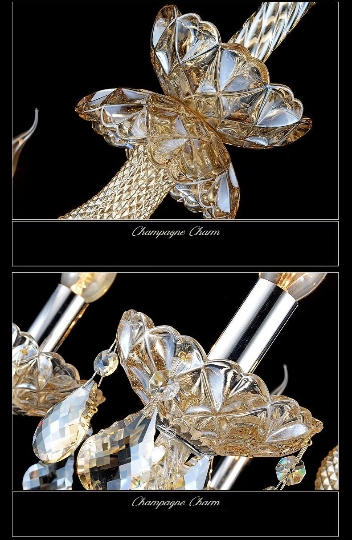 Luxury Crystal Pendant Chandelier lights lamps K9 Bedroom LivingRoom Modern Chandeliers Lustres