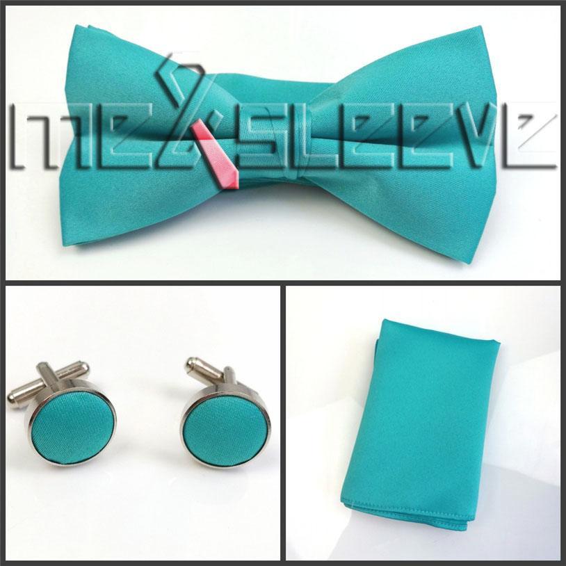hot sale plain jade alternative dressesvest+bowtie+handkerchief