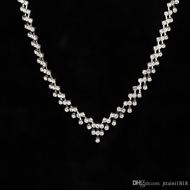 YFJEWE Factory price New Noble Crystal Necklace Pendant Rhinestone Crystal Wedding Jewelry for women best gift for party #N055
