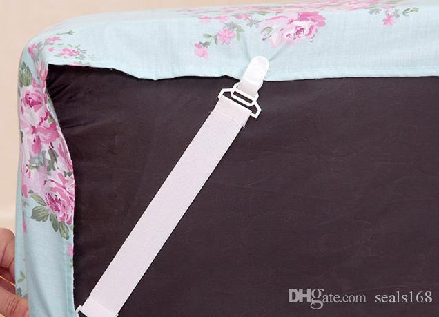 / sábana blanca funda de colchón mantas agarradores correas tirantes CLip Holder sujetadores elásticos hebillas HH-B20