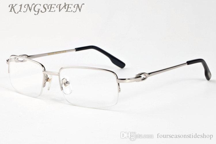 الرجعية قرن الجاموس نظارات 2020 نظارات أزياء المرأة عن الرجل بدون شفة الفضة إطار الذهب واضحة النظارات والعدسات مع حالة oculos دي سول