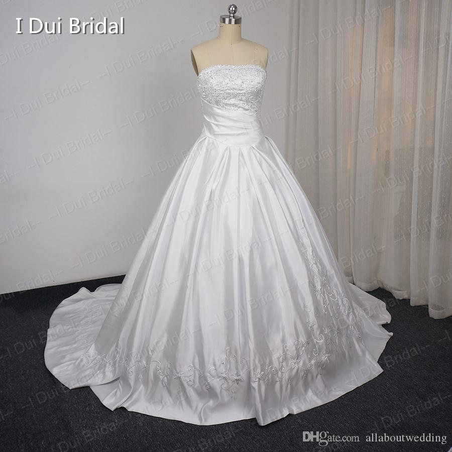 2017 All About Wedding Factory Custom Make Ball Gown Strapless ...