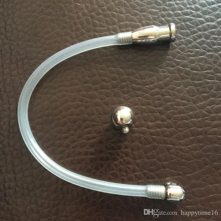 Ultimo maschio catetere uretrale tubo vuoto spina spina bondage uomini dispositivi di castità prodotti del sesso adulti giocattoli S023