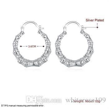 도매 - 최저 가격 크리스마스 선물 925 스털링 실버 패션 귀걸이 E139