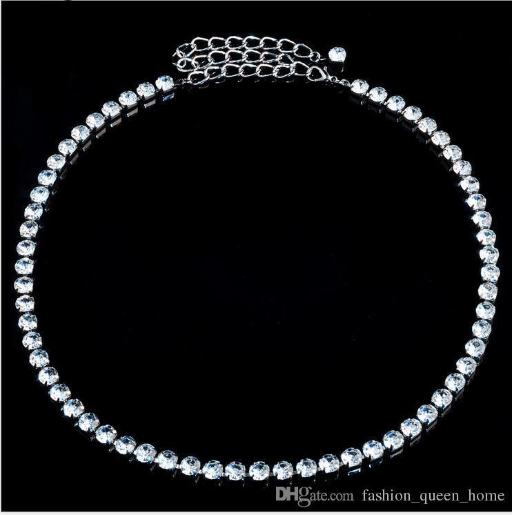 Fashion crystal belt Belly Single Row Rhinestone Belt Wedding PARTY Brides Thin Waist close accessories Belts F373