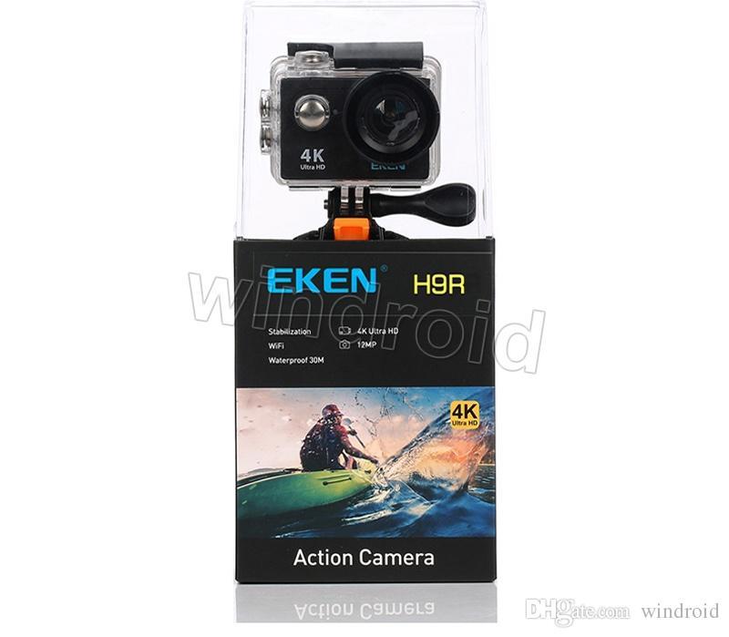 Action camera deportiva Original EKEN H9 / H9R remote Ultra HD 4K WiFi 1080P 60fps 2.0 LCD 170D pro sport waterproof go camera Free DHL