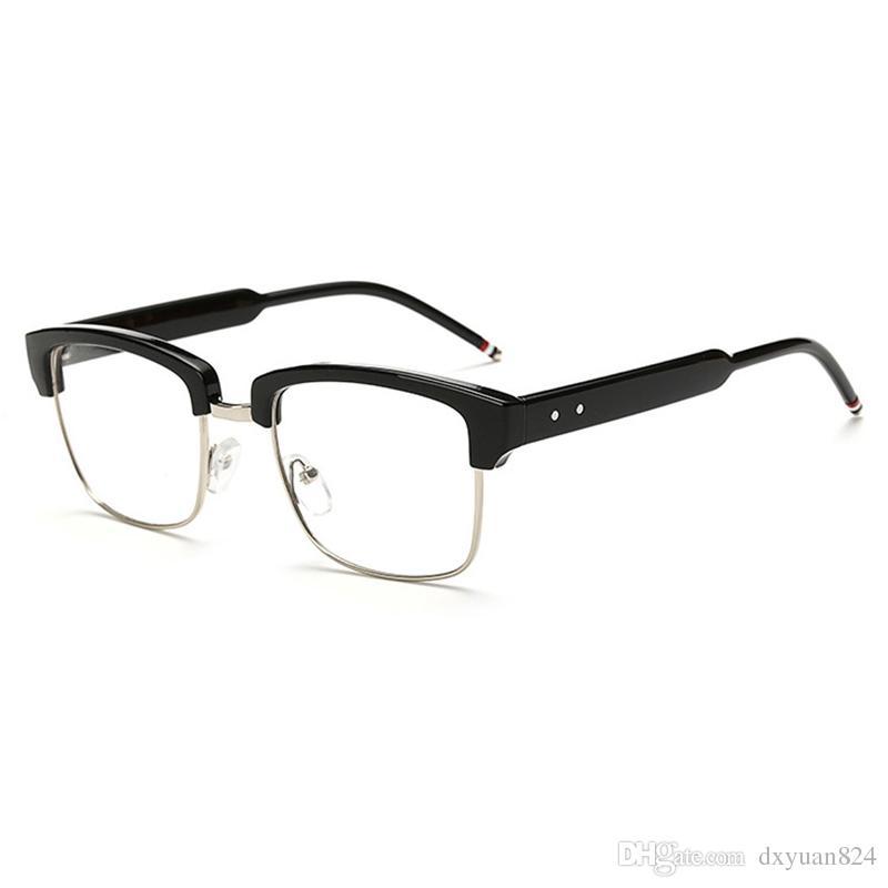 6ed8e0eade D.King New Vintage Classic Half Frame Semi Rimless Wayfarer Clear Lens  Glasses Suit For Womens Mens Frames 50mm Width Lens Canada 2019 From  Dxyuan824