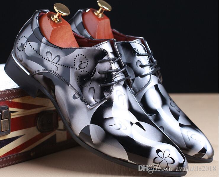 Men's Leather Shoes Flower Fashion Men''s Business Dress Shoes Casual Men's Footwear Shoes Sneakers Male outlet discount outlet amazon QMdbm65v7c