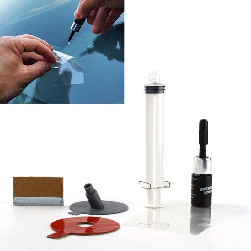 Ensemble de réparation de pare-brise de voiture outil de kit de bricolage verre à vent pour fissure de puce