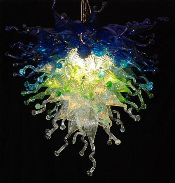 Home Decor Chandelier High Ceiling lamp Blown Modern AC 110V 240V Fashion Glass Hanging LED Pendant Lamps