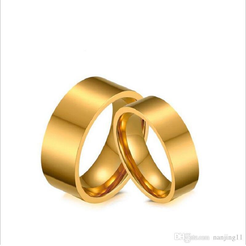 Grosshandel Mode Gold Farbe Hochzeit Verlobungsringe Fur Manner Und
