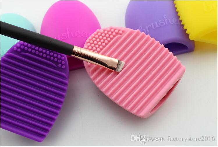 Brosse Oeuf Brushegg Silicone Cosmétique Maquillage Brosse De Nettoyage Outil de Maquillage Accessoires Gratuit DHL Usine Direct En Gros