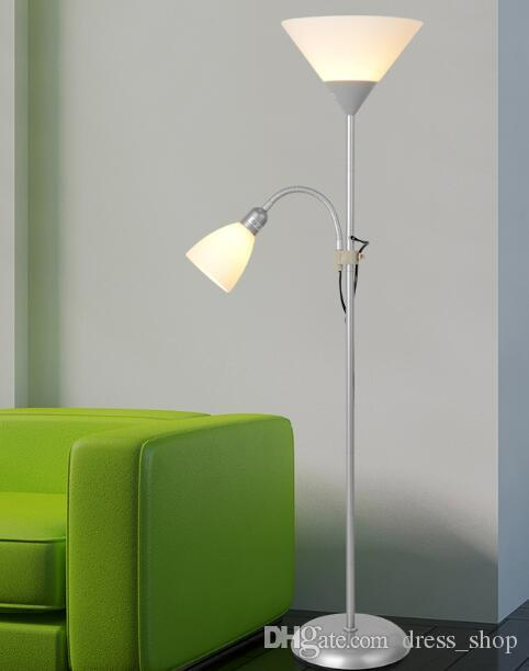 Modern 2 Lights Mother And Child Floor Lamps Living Room Adjustable Hotel  Lighting E27 E14 LED AC 110V 220V For Bedroom Bedside Floor Lamps Online  With ...