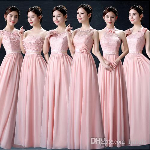 acheter pastel rose demoiselle d 39 honneur modeste robe de. Black Bedroom Furniture Sets. Home Design Ideas