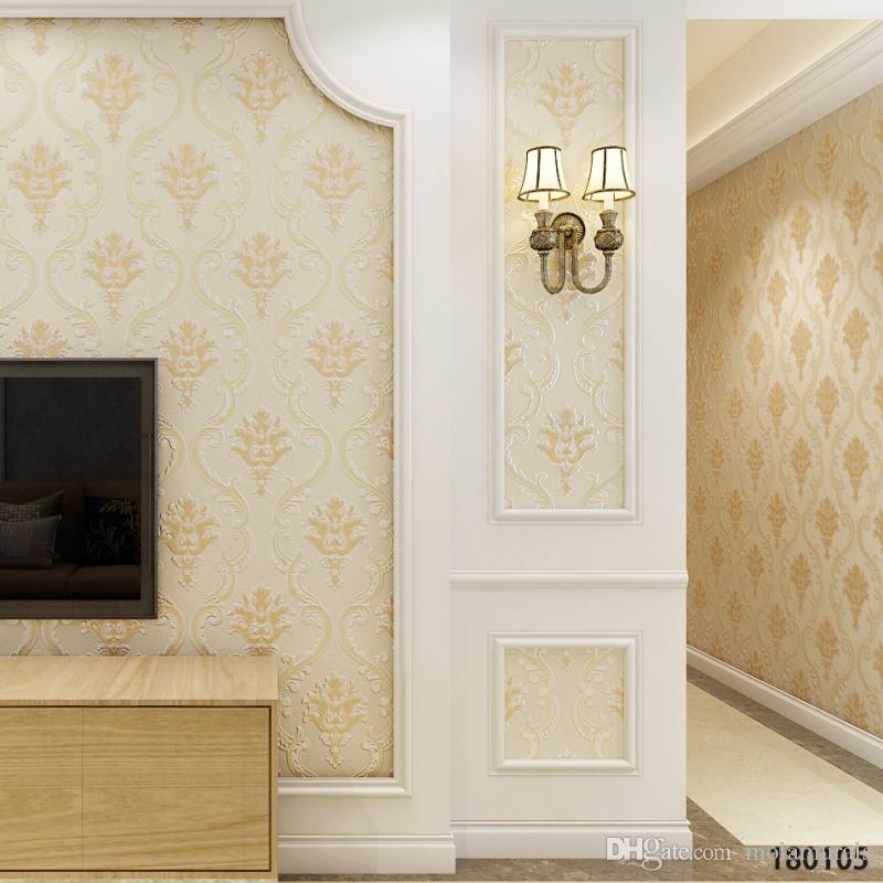 3d luxury thick pvc wallpaper sticker european bedroom wallpaper