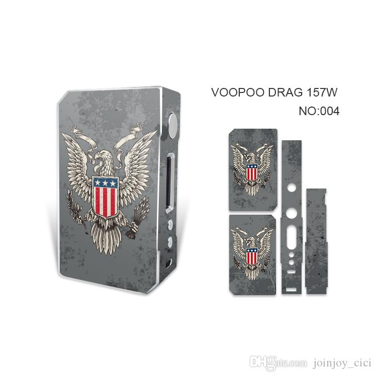VOOPOO DRAG 157W TC Box Mod sticker Ecig Mods Dual 18650 Battery Super Vape Mod 157w TC Temperature Control Box Mods
