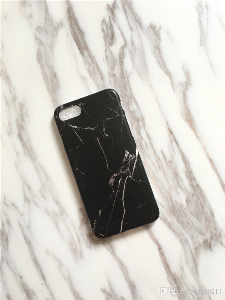 الرخام غطاء IMD لينة ماتي TPU كامل القضية للحصول على حماية اي فون 6 6S 7 زائد الهاتف الخليوي غطاء من الجلد 025
