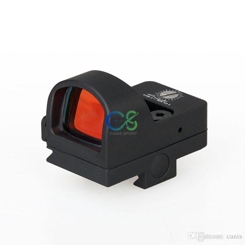 Canis Latrans Tactical Mini Rosso Dot Scope Ingrandimento 1x nero il vero colpo d'uso del mirino CL2-0078