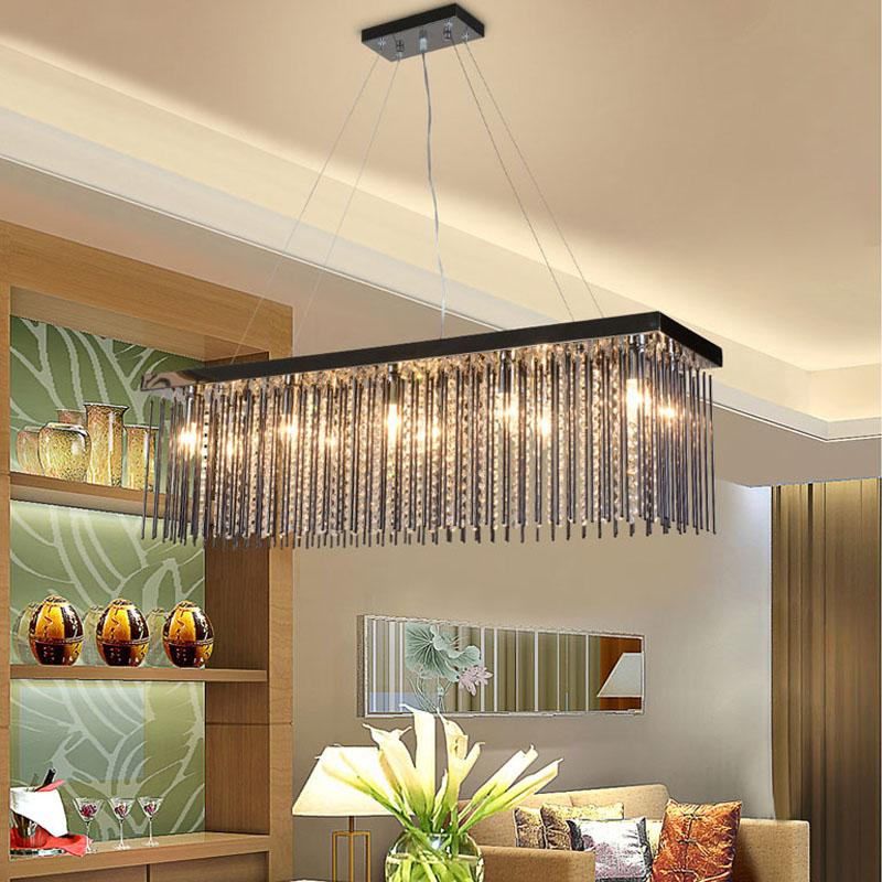 Rectangle Crystal Dining Room Chandelier Creative Bar Lamp Living Room Lamp  European Style Chandelier Luxury Bedroom Bar Crystal Lamp Best Pendant  Lights ...