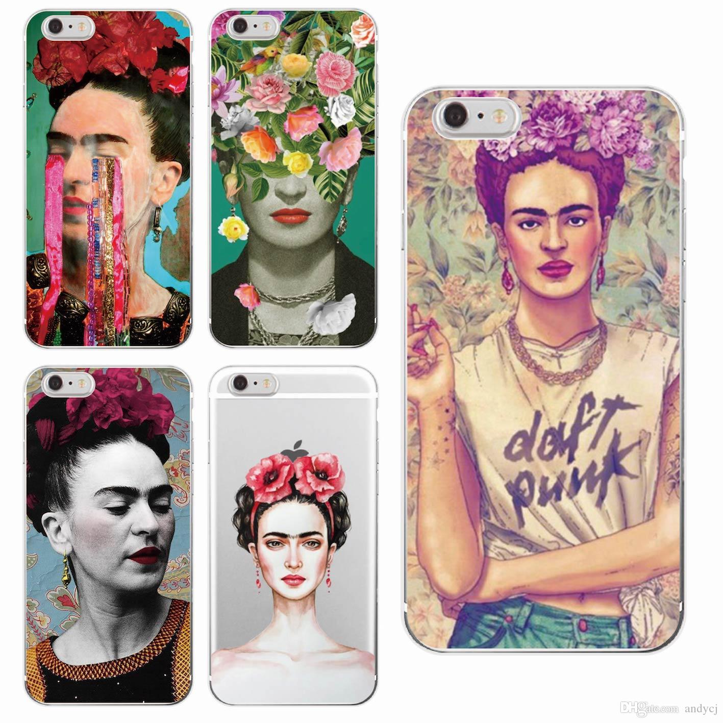 afafee909f9 Accesorios Para El Movil Mexicana Frida Kahlo Artista Flor Floral Soft  Phone Para IPhone 7 7plus 6 6S 6Plus 5 5S SE 5C 4 4S SAMSUNG Protectores  Para ...