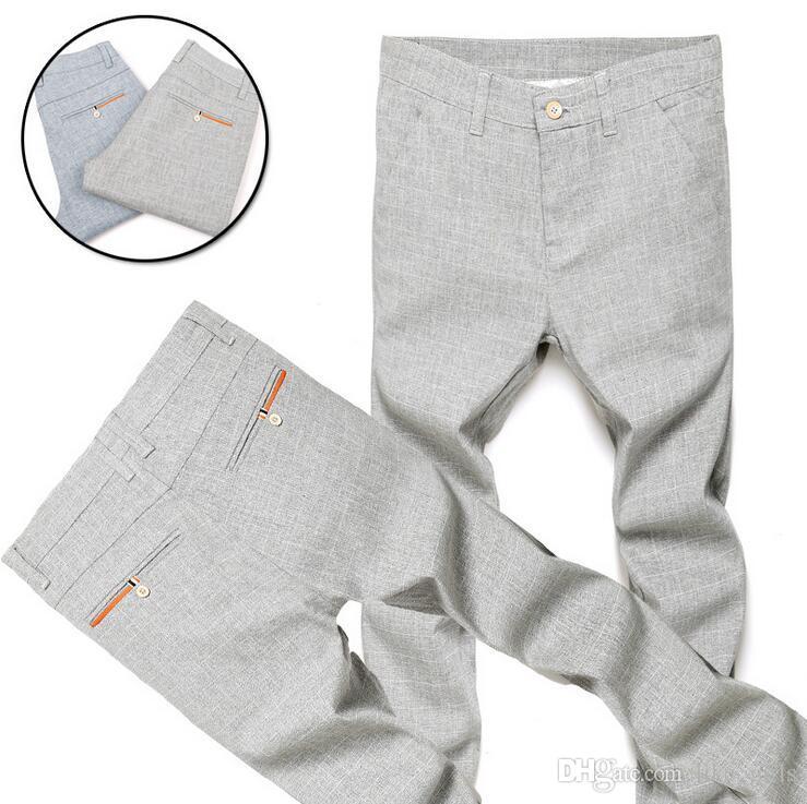Nova chegada Primavera e verão seção de nove homens casuais Magro jovens 9 pontos calças calças masculinas PM018