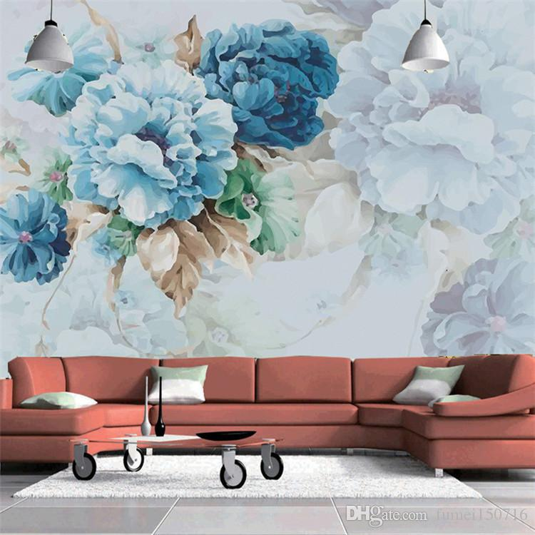 Amerikan Sanat Duvar Kağıtları Oturma Odası Yatak Odası TV Arka Plan Duvar Boyama El Yapımı Modern Basit 3d Dekoratif Duvar Kağıdı Duvar