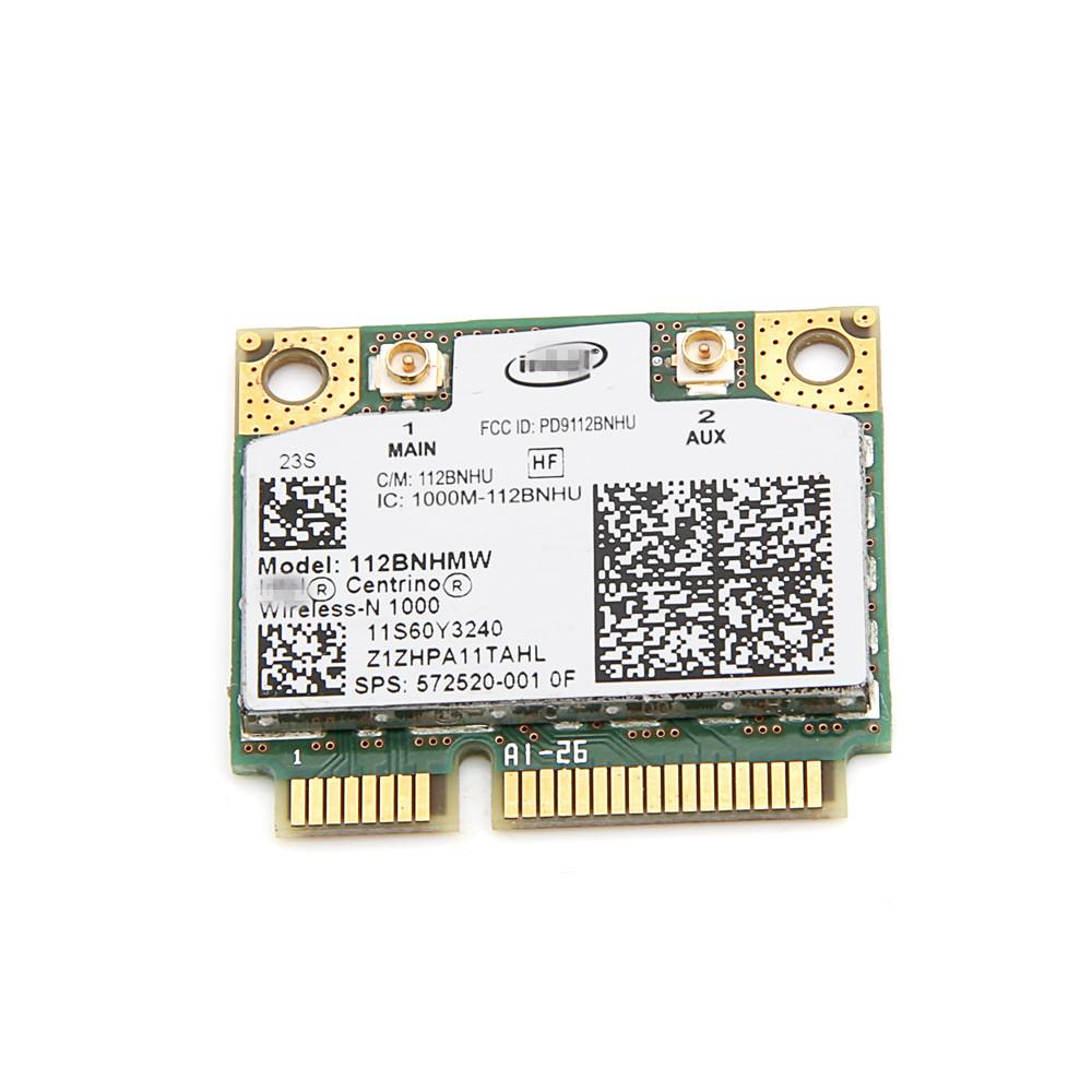Wholesale- For Lenovo Intel Wireless-N 1000 112BNHMW 300Mbps Wifi Half Mini PCIe Card 802.11b/g/n 60Y3240 For Thinkpad L410 L510 SL510 X201