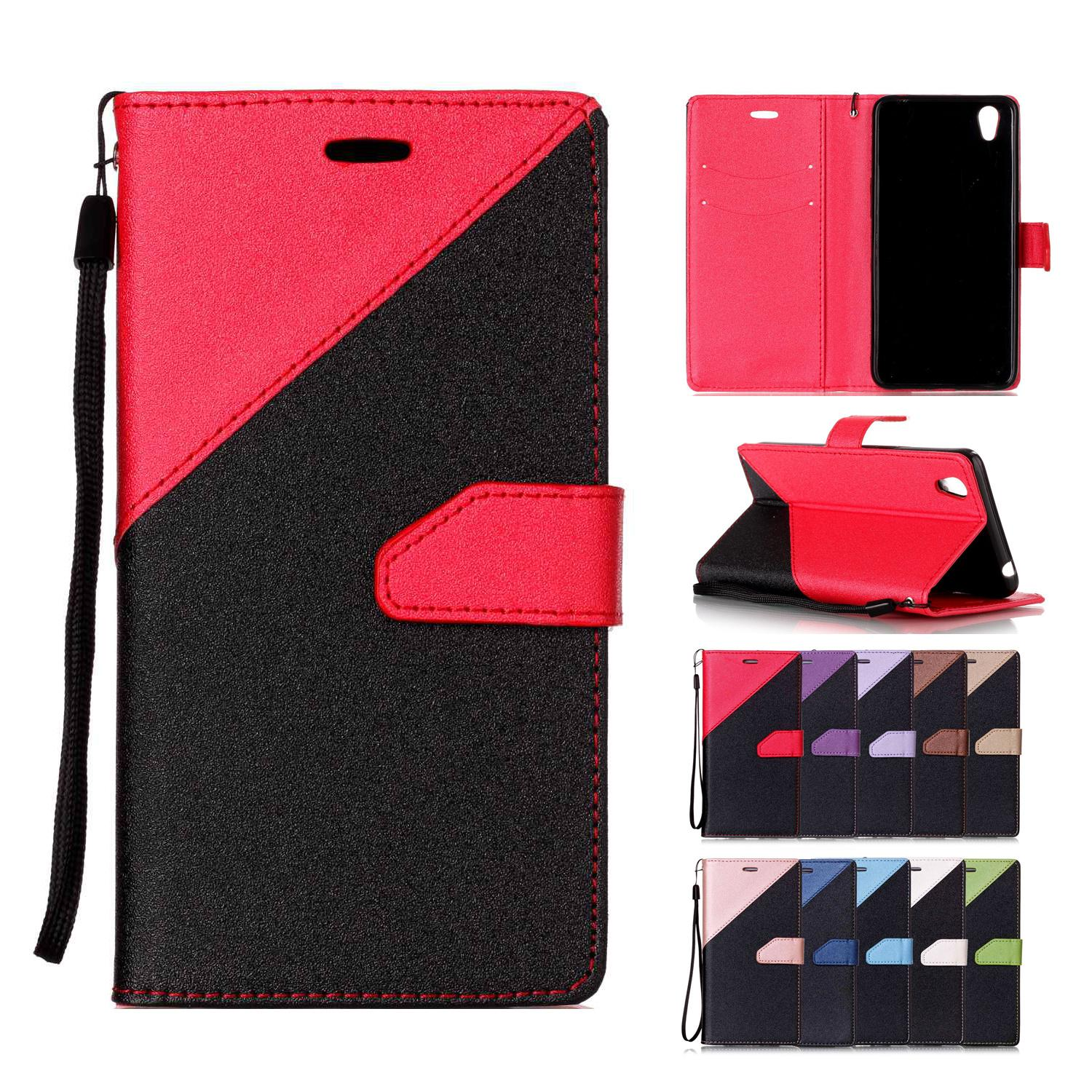 the best attitude 796fd a35ed Phone Cases for OPPO A37 Case Covers PU Leather with Card Slot Buckle Hand  Strap Sand Beach Surface Succinct Style