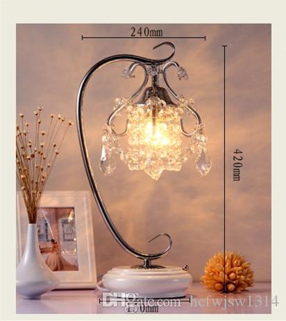 Crystal lamp bedside bedroom creative Korean personality light touch warm wedding gift European style table lamp