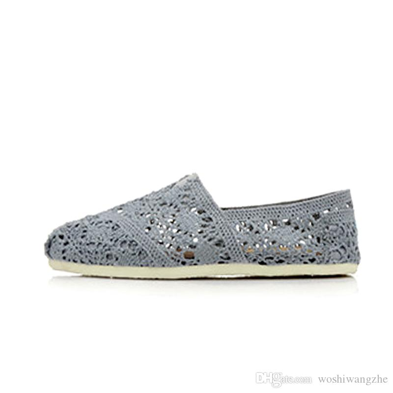 Classic brand women hollow shoes Hand-woven canvas shoes Crafts fashion women canvas shoes