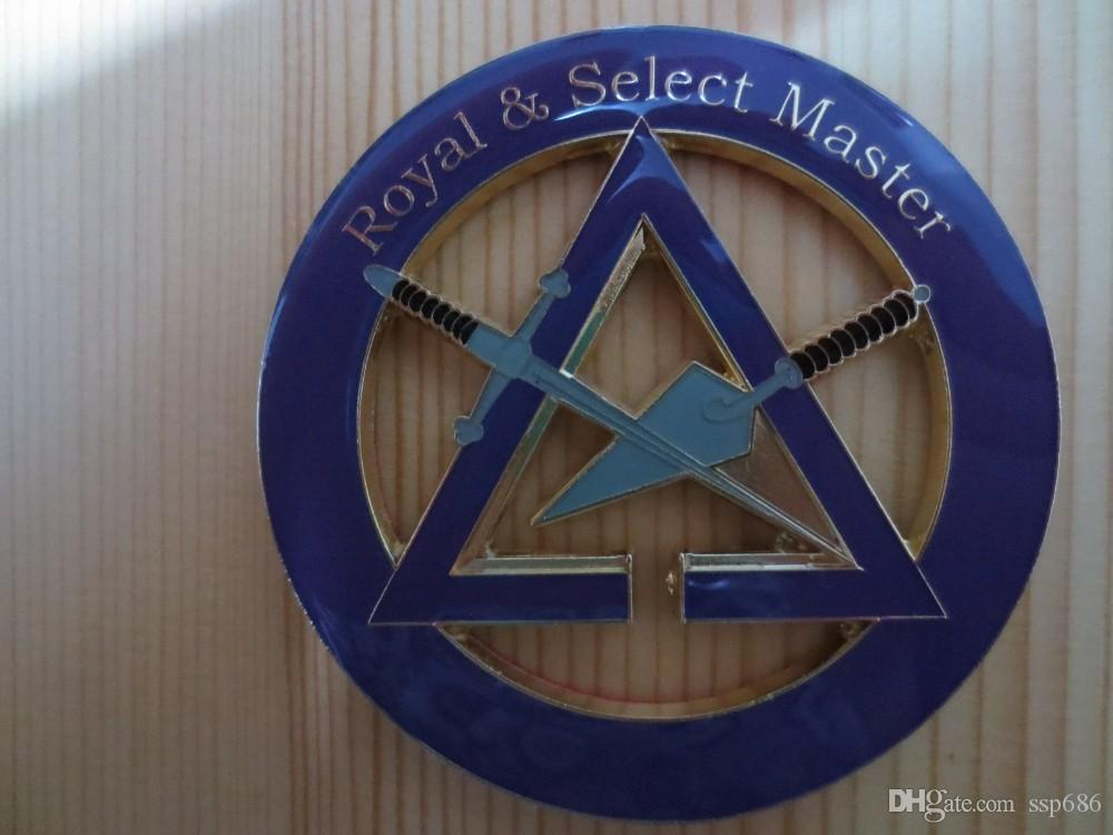 Masonic Car Badge Emblem Mason Freemason N18 Royal & Select Master