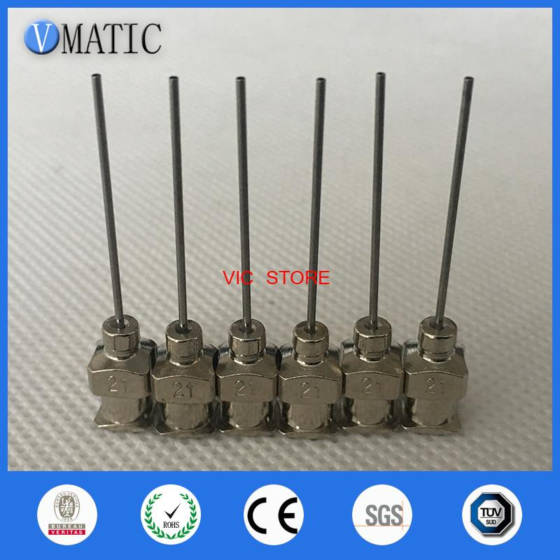 -1inch Tip Length 21G Blunt Stainless Steel Dispensing Needles Syringe Needle Tips Glue Dispensing Needle