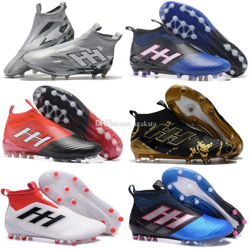 04a9f0ff82ba 2018 New Messi Soccer Cleats ACE 17+ PureControl FG Soccer Shoes Men Outdoor  Lawn Football Boots