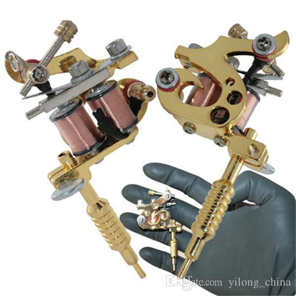 YILONG 1 pçs / lote Nova Moda Bonito Tatuagem Gun Gunmetal Mini Máquina Tatuagem Pingente de Colar de Jóias