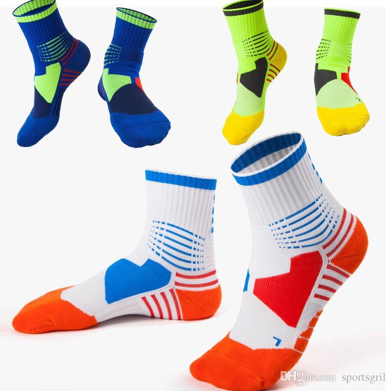 8f2ba873dd0 Men Socks Fashion Brands Professional Elite Basketball Socks Cycling ...