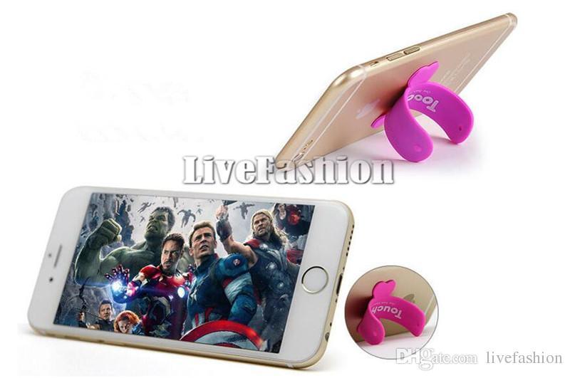 Universal mini tragbare touch u ständer silikon halter unterstützung handy ständer halterungen für iphone samsung galaxy s8 s7 edge tabletten pc ht