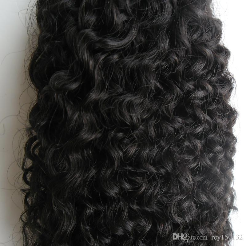 Mongolian kinky curly hair I Tip Hair Extensions 100g 100s afro kinky curly Stick Tip Keratin 100% Remy Human Hair Extensions