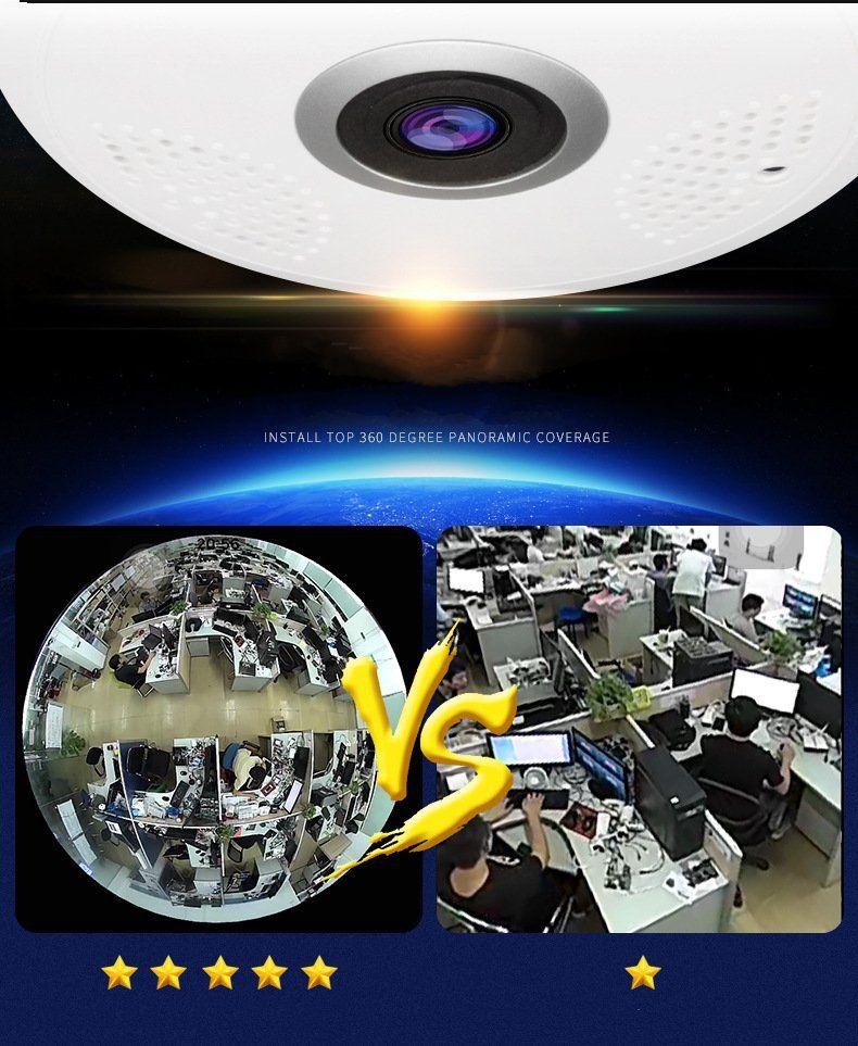 Alta Qualidade HD 960 P 360 graus Sem Fio IP Câmeras de Visão Noturna Câmera Wi-fi Câmera de Rede IP CCTV câmera de segurança em casa monitor de bebê
