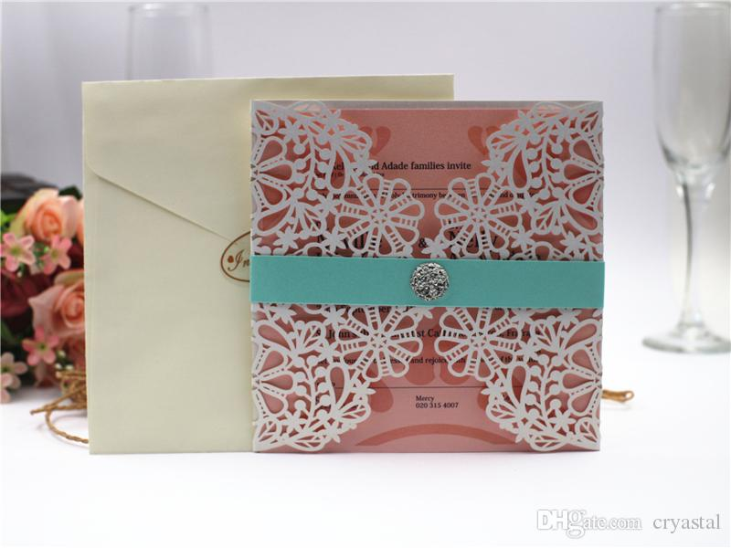 2019 Snowflake Design Gold Hollow Out Wedding Invitations Cards Customizable Invitation with Blank Inner Sheet By UPS
