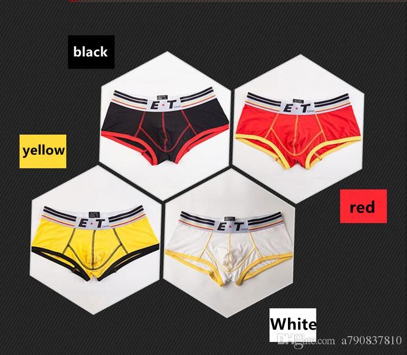 DHL livraison gratuite Sous-vêtements pour hommes Coton Et Confortable Marque Boxers U Pouch Style De Mode Sous-Vêtements Hommes Boxer Shorts NS018